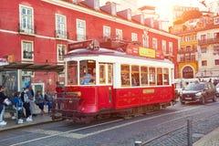 LISSABON, PORTUGAL - 15. MÄRZ 2017: Tram Eletrico in Lissabon, PO Stockfotos