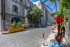 Lissabon, Portugal - 20. Mai, 2917: Sehr populärer Art Centrum LX Fac Lizenzfreies Stockbild