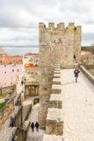 Lissabon Portugal - mars 4, 2016: Castelo de San Jorge Arkivbilder
