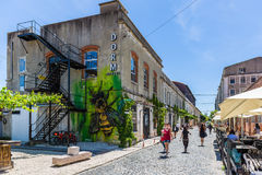 Lissabon, Portugal - Mei 20, 2917: Zeer populair Art Centrum LX Fac Royalty-vrije Stock Foto's