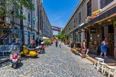 Lissabon, Portugal - Mei 20, 2917: Zeer populair Art Centrum LX Fac Stock Afbeeldingen