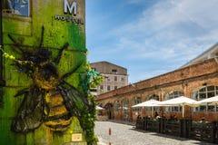 Lissabon, Portugal - Mei 20, 2917: Zeer populair Art Centrum LX Fac Royalty-vrije Stock Fotografie