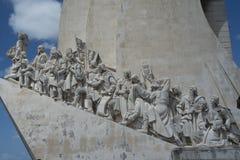 Lissabon Portugal monument till upptäckter & x28; Padrão DOS Descobrimentos& x29; Royaltyfria Bilder