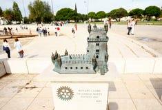 LISSABON, PORTUGAL - OKTOBER 23,2012: Belem-Turmskulptur auf Th Lizenzfreies Stockbild