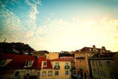 LISSABON, PORTUGAL - Oktober 31, 2016: Het overzien van oud Europa c Stock Foto's