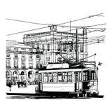 Lissabon Portugal Praca gör commercio vektor illustrationer