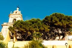 Lissabon Portugal - Septmember 19, 2016: Synvinkeln vid kyrkan av Graca Arkivfoto