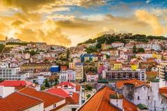Lissabon Portugal stadshorisont Royaltyfri Foto
