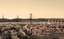 Lissabon, Portugal, 25. von April Bridge Stockfoto