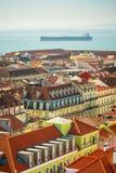 Lissabon, Portugal zonnige ochtend Stock Afbeeldingen