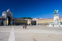 Lissabon Praça gör Comércio Fotografering för Bildbyråer