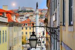 Lissabon Rossio fyrkant arkivbild