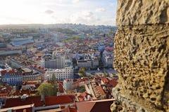 Lissabon Rossio fyrkant arkivfoto
