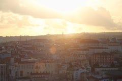 Lissabon Rossio fyrkant fotografering för bildbyråer