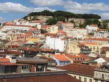 Lissabon-Schloss Stockfotografie