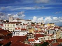 Lissabon sikt Arkivfoto