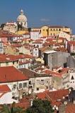 Lissabon sikt av den nationella panteon av Santa Engracia Arkivfoton