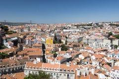 Lissabon sikt av staden Royaltyfri Bild