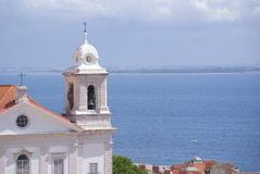 Lissabon sikter Arkivbild