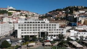Lissabon slott och Graça kulle Arkivbilder