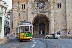 Lissabon spårvagn 12 Fotografering för Bildbyråer