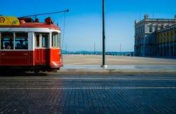 Lissabon spårvagn Royaltyfri Fotografi