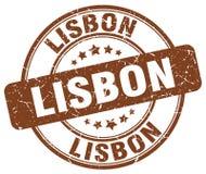 Lissabon stämpel stock illustrationer
