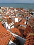Lissabon-Stadt, panoramisches Bild Stockfotografie