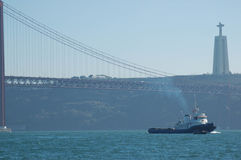Lissabon-Stadt-und -seelandschaft Portugal Stockbild