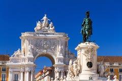 Lissabon-Statuen lizenzfreie stockbilder