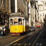 Lissabon-Straßenbahnen Stockbild