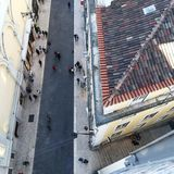Lissabon tak Fotografering för Bildbyråer