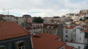 Lissabon tak Arkivfoton