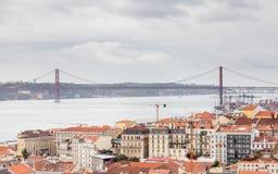 Lissabon Timelapse Royalty-vrije Stock Foto's