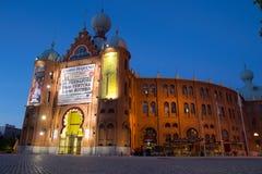 Lissabon tjurfäktningsarena Arkivfoton