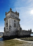 Lissabon Torre de Belem Arkivfoton