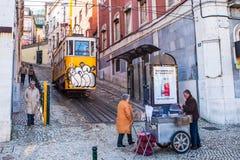 Lissabon-Tram Stockfotos