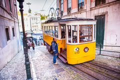 Lissabon-Tram Lizenzfreies Stockfoto