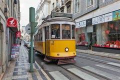 Lissabon-Tram 28 Lizenzfreies Stockfoto