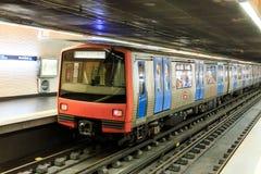 Lissabon tunnelbana arkivfoto