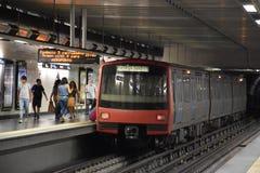 Lissabon tunnelbana i Portugal arkivbilder