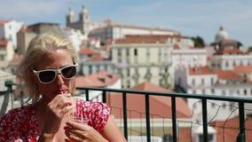 Lissabon turistsynvinkel arkivfilmer