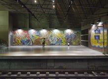 Lissabon-U-Bahnstation Lizenzfreies Stockfoto