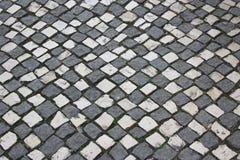 Lissabon väg som bakgrund Arkivfoto