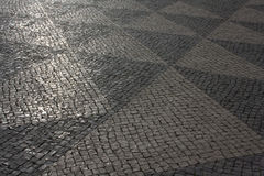 Lissabon väg som bakgrund Royaltyfri Bild