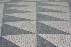 Lissabon väg som bakgrund Arkivbilder