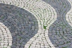Lissabon väg som bakgrund Royaltyfri Foto