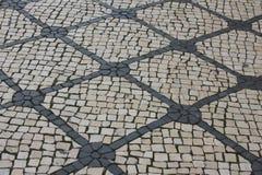 Lissabon väg som bakgrund Arkivbild