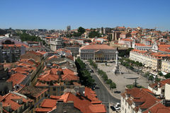 Lissabon van de binnenstad Stock Foto