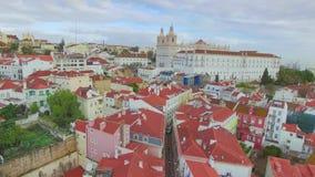 Lissabon van de hemel stock videobeelden